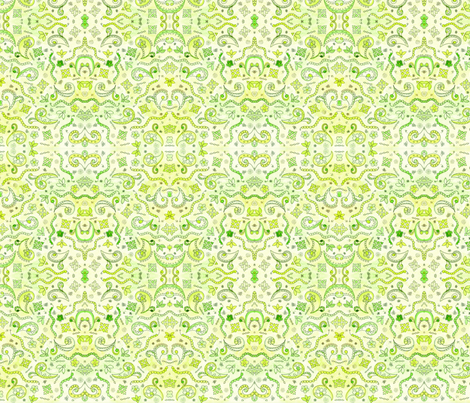 Lemon Lime fabric by poppydreamz on Spoonflower - custom fabric