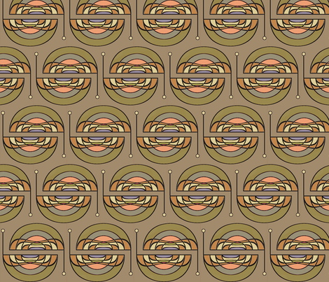 Concentric Antennae fabric by david_kent_collections on Spoonflower - custom fabric