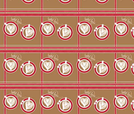 Latte Love fabric by owlandchickadee on Spoonflower - custom fabric