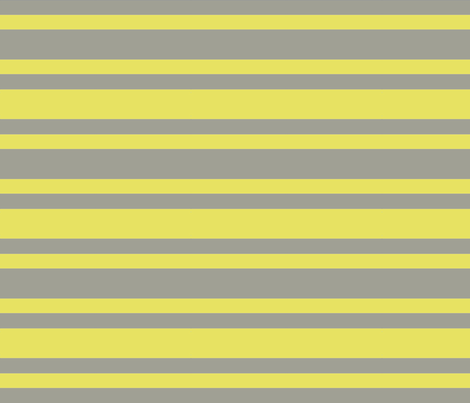 Yellow and Grey Varied Width Stripes fabric by bluenini on Spoonflower - custom fabric