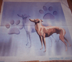 Italian Greyhound Fabric