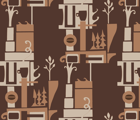 Coffeehouse fabric by boris_thumbkin on Spoonflower - custom fabric