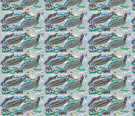 sharks__by_marilyn_nepp_sturner___sharks fabric by mailyn on Spoonflower - custom fabric