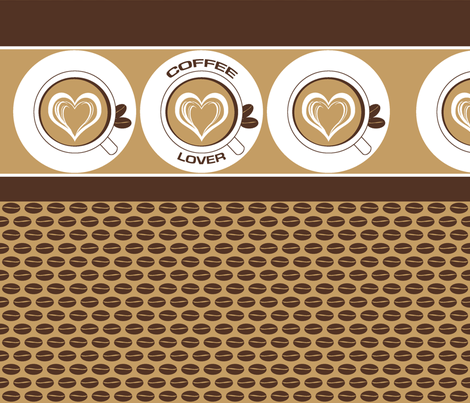 Milky Coffee Lover fabric by inscribed_here on Spoonflower - custom fabric