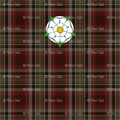 Caithness District Tartan w/ Yorkshire/Jacobite Rose Armband