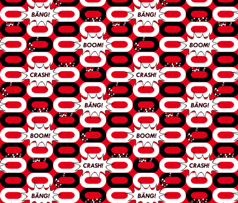 CRASH! BOOM! BÄNG! Derby Time Again! fabric by annosch on Spoonflower - custom fabric