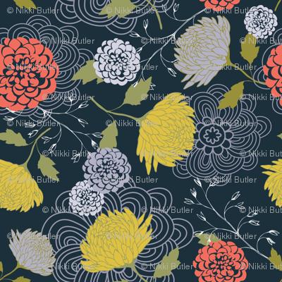 Midnight Blue Chrysanthemum