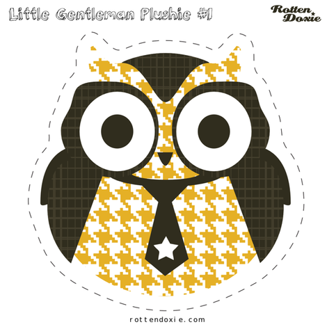 Owl Plushie #1 fabric by tradewind_creative on Spoonflower - custom fabric