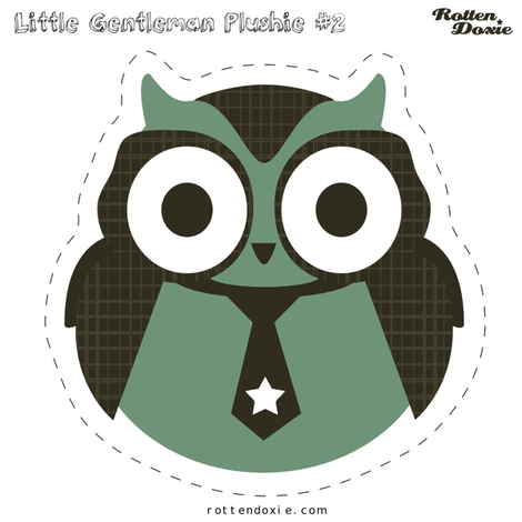 Owl Plushie #2 fabric by tradewind_creative on Spoonflower - custom fabric