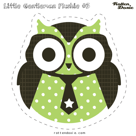 Owl Plushie #3 fabric by tradewind_creative on Spoonflower - custom fabric