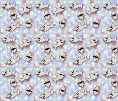 ©2011 SHARKFEST - medium fabric by glimmericks on Spoonflower - custom fabric