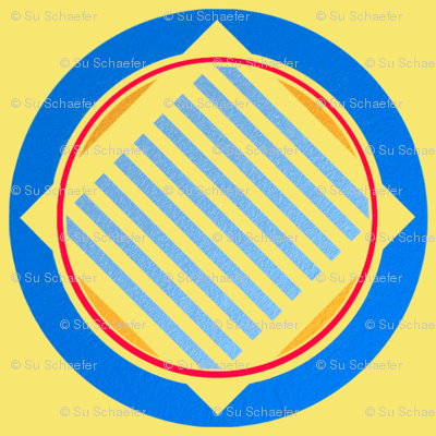 Nautical roundel on yellow