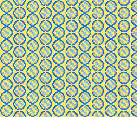 Nautical roundel on yellow fabric by su_g on Spoonflower - custom fabric