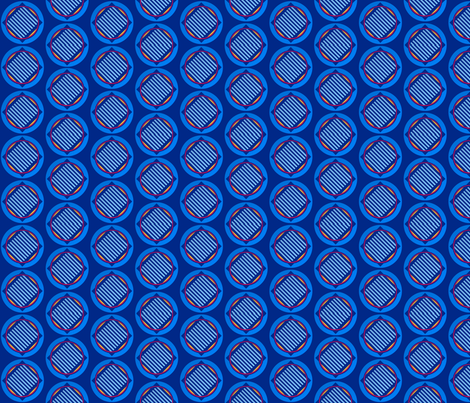 Nautical roundel on mid blue fabric by su_g on Spoonflower - custom fabric