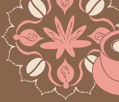 Coffee Chic fabric by bindy on Spoonflower - custom fabric