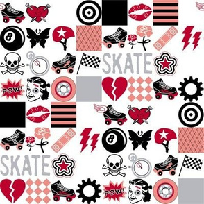 Roller Derby || roller skate skating hearts girls grrl punk emo sports tattoo