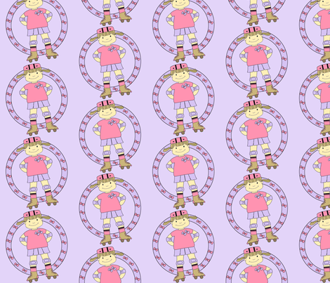 Roller Derby Princess fabric by minniemeatdaydreamstudio on Spoonflower - custom fabric