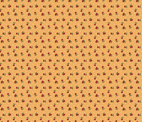 CherryandCinnamon - Vintage Cherry Print fabric by cherryandcinnamon on Spoonflower - custom fabric