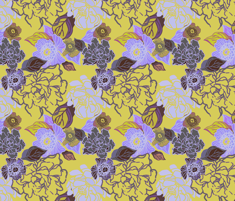Jungle Dusk fabric by joanmclemore on Spoonflower - custom fabric