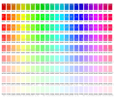 Bright color chart