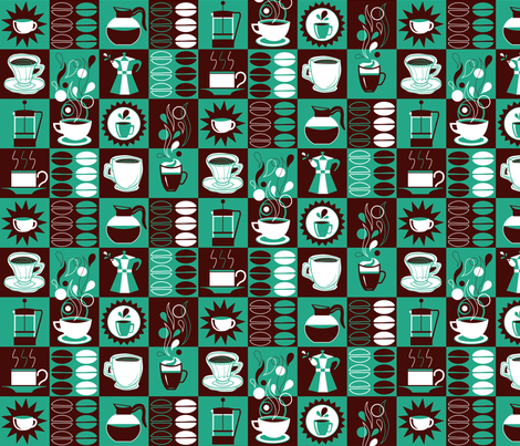 Coffee Service fabric by dettoza on Spoonflower - custom fabric