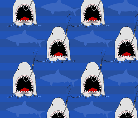 Shark_Fabric_Contest3 fabric by erin_kaiser on Spoonflower - custom fabric