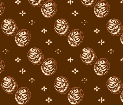 Barista Artista fabric by haleystudio on Spoonflower - custom fabric