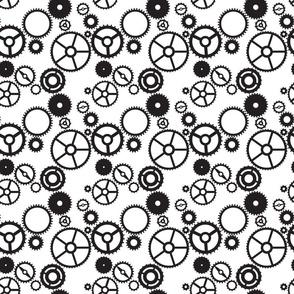 Gears - Black & White