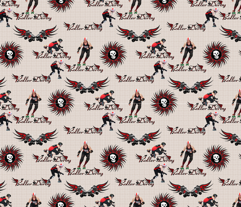 Roller_Derby_Canvas fabric by lisa_binion on Spoonflower - custom fabric
