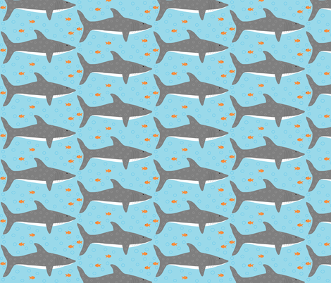 Circle Sharks fabric by tylerstrain on Spoonflower - custom fabric