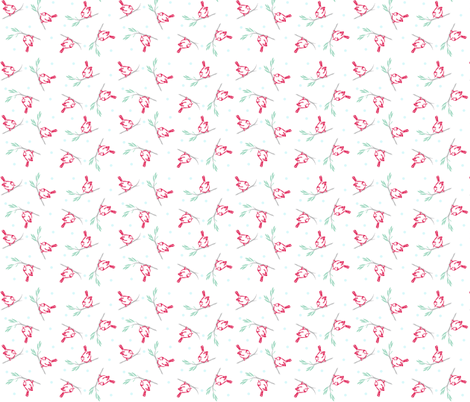 birdies fabric by atomic_bloom on Spoonflower - custom fabric