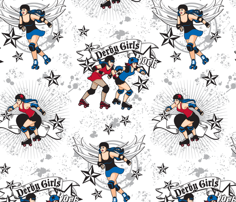 Derby Girls fabric by cjldesigns on Spoonflower - custom fabric