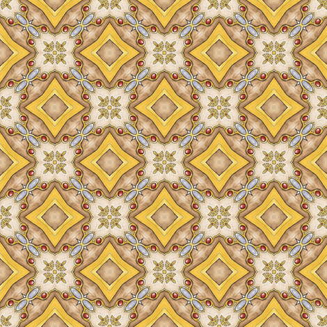 Treasure Tiles fabric by siya on Spoonflower - custom fabric