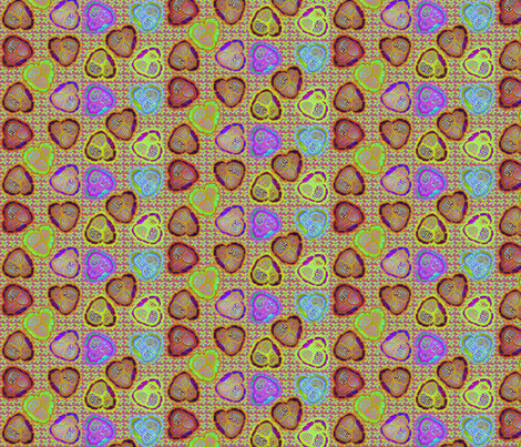 ©2011 savagehearts fabric by glimmericks on Spoonflower - custom fabric