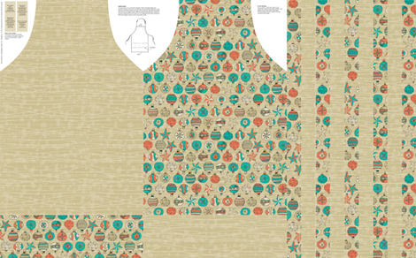 Retro Holiday Aprons fabric by seidabacon on Spoonflower - custom fabric