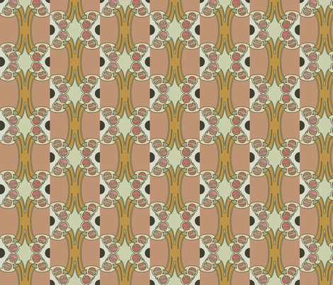 Orange Vertu fabric by david_kent_collections on Spoonflower - custom fabric