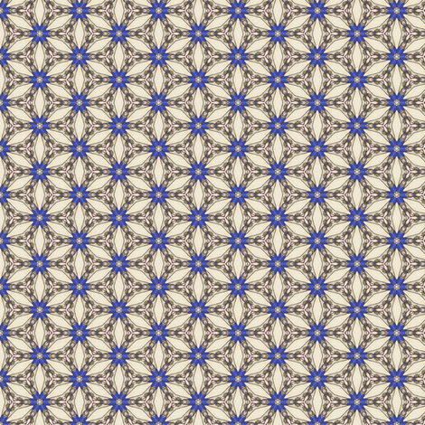 Bandar's Sapphire Star fabric by siya on Spoonflower - custom fabric