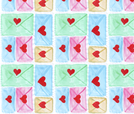 love letters bigger fabric by mimi&me on Spoonflower - custom fabric