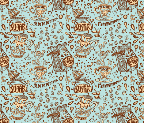 Coffee.....mmmmmmmm fabric by gsonge on Spoonflower - custom fabric