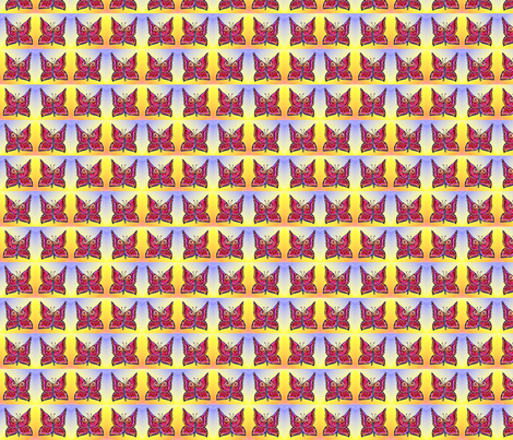 rainbow_butterflies fabric by vinkeli on Spoonflower - custom fabric
