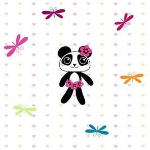 Dance of the Dragonflies! - Little Panda  - © PinkSodaPop 4ComputerHeaven.com