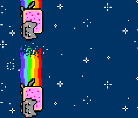 Nyan fabric by magicwhitelady on Spoonflower - custom fabric