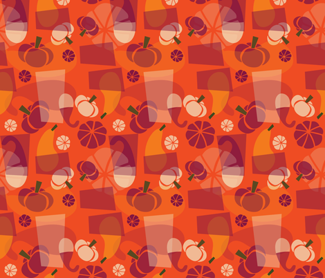 Funky Mod Gourds - punch fabric by acbeilke on Spoonflower - custom fabric