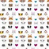 Baby Animal Faces Love! - © PinkSodaPop 4ComputerHeaven.com