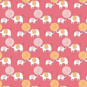 Elephant Love Pink