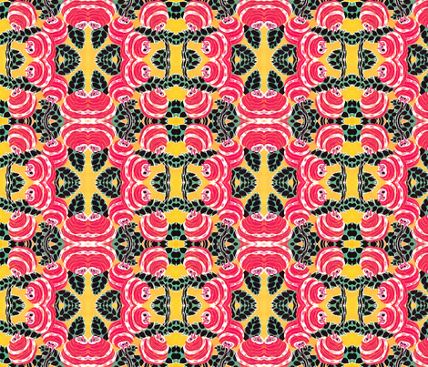 Flowers-ArtDeco fabric by mbsmith on Spoonflower - custom fabric