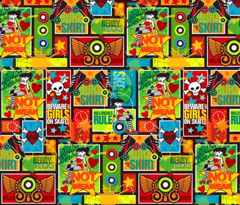 Hurt in a Skirt fabric by jennartdesigns on Spoonflower - custom fabric