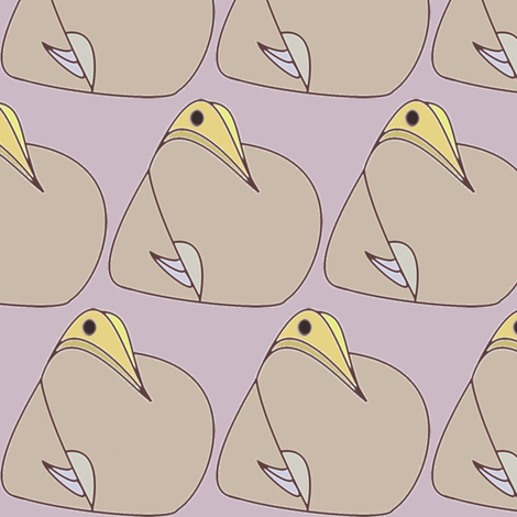 Baby Bird (Yellow Bill) fabric by david_kent_collections on Spoonflower - custom fabric