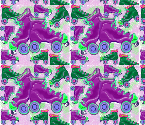 Skates fabric by chovy on Spoonflower - custom fabric