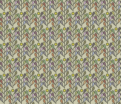 Leaf of Fiji (Morning) fabric by david_kent_collections on Spoonflower - custom fabric